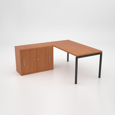 Margin 38 – Desk with Sliding Door Credenza