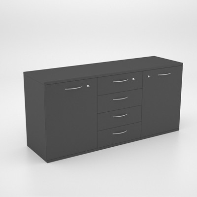 Storage – Server Unit with 2 SD Cupboards and 4 Drawers 2000 x 450 x 950h