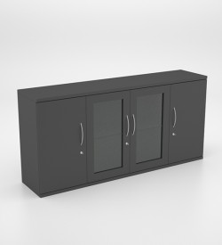 Storage - Server Unit with Swing Doors and 2 Glass Doors