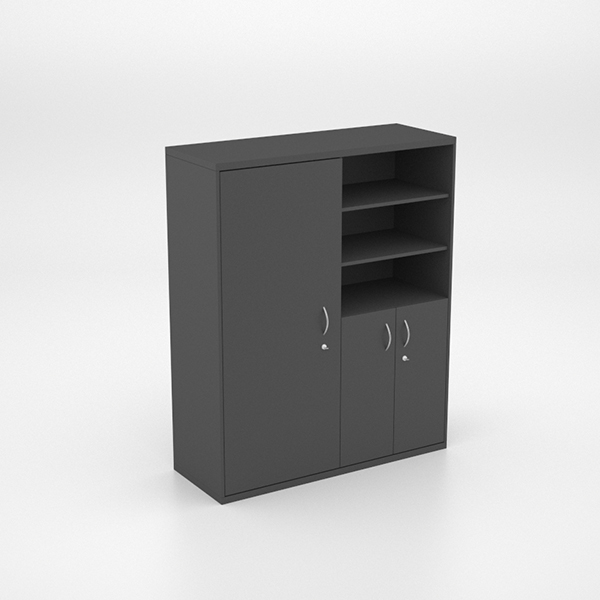 Storage - Wall Unit with Full Cupboard, Half Cupboard and Shelves
