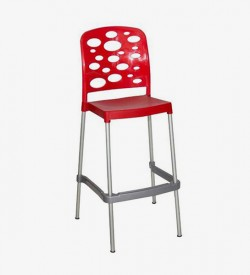 Bubble Bar Stool - Red