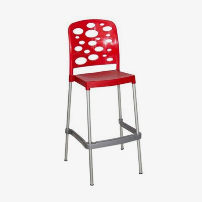 Bubble Bar Stool – Red