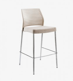 Hall Barstool - Beige (front)