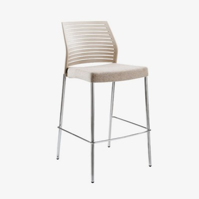 Hall Barstool – Beige (front)