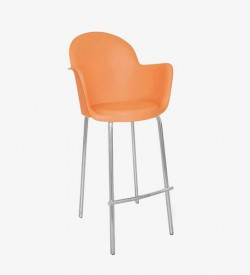 Moon Bar Stool - Orange