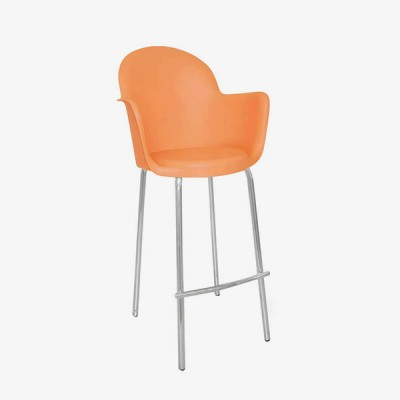 Moon Bar Stool – Orange