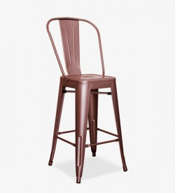 Retro Bar Stool - Rose Gold