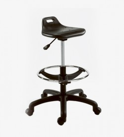 Saddle Industrial draughtsman Stool