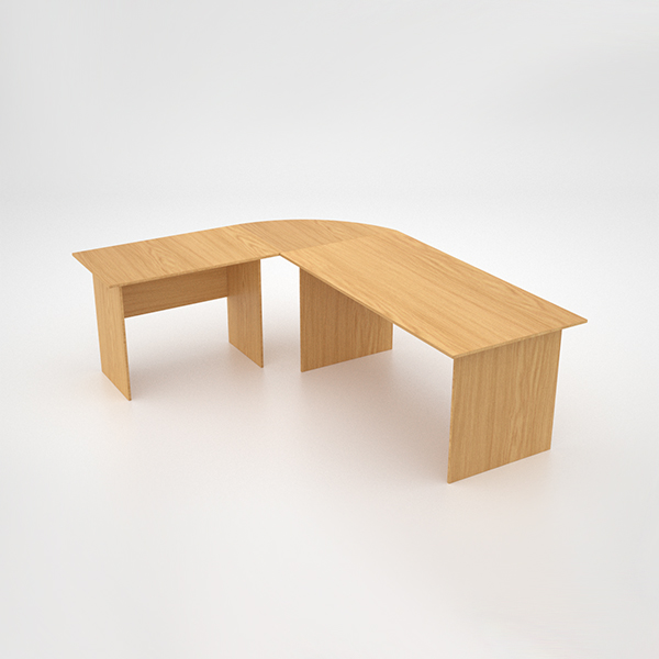Value Desk with extension - Oak