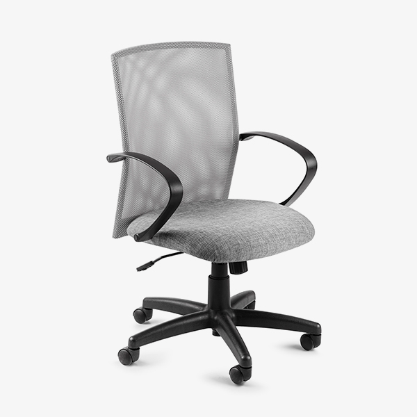 Chronos Mid Mesh Back Operators Chair - Grey