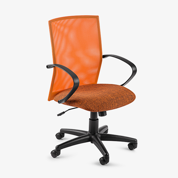 Chronos Mid Mesh Back Operators Chair - Orange