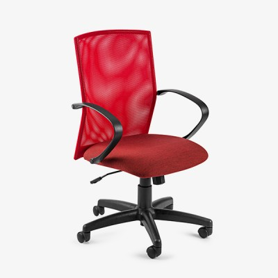 Chronos Mid Mesh Back Operators Chair – Red