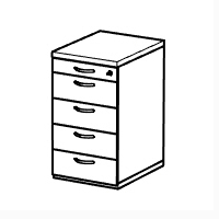 1 x Pen & Pencil Tray, 4 x Standard Drawers