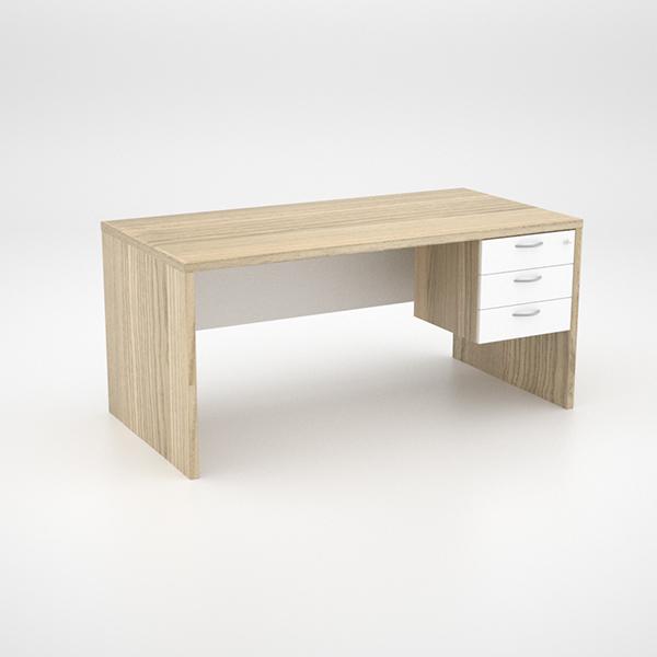 Isabella Desk with suspended pedestal
