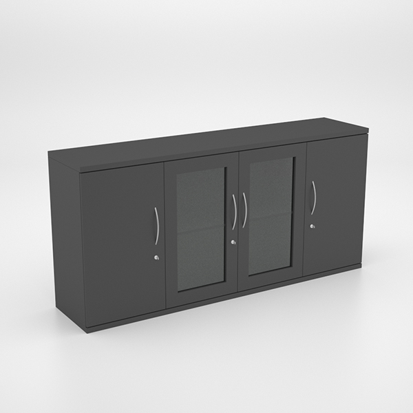 Server Unit With Swing Doors And 2 Glass Doors Officescene