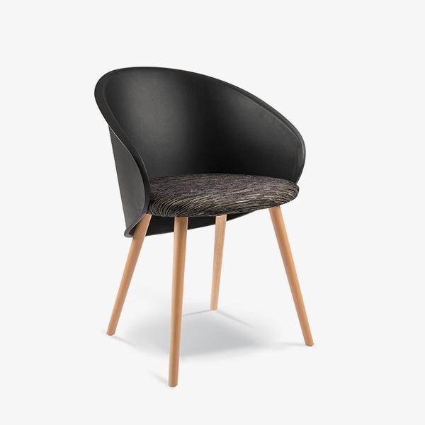 Upholstered Black