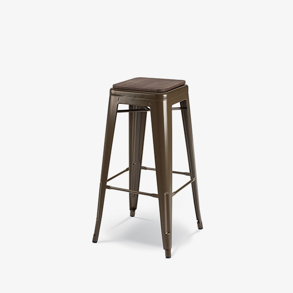 Brown with Timber Seat